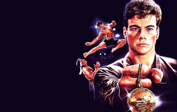 Picture classic, karate, Jean-Claude Van Damme, Jean-Claude Van Damme, Bolo Yeung, Bloodsport, Blood sport