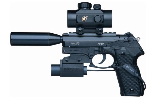 Photo wallpaper damper noise, weapon, gun, pistol, tactical pistol, tactical weapon, 4.5mm, Gamo, optical lenses, customization, mini ...