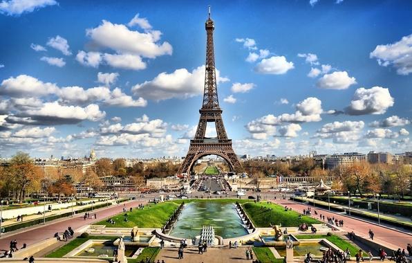 Picture landscape, tower, Paris