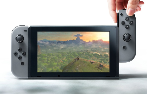 Picture game, Nintendo, screen, joystick, video game, console, hardware, technology, Nintendo Switch