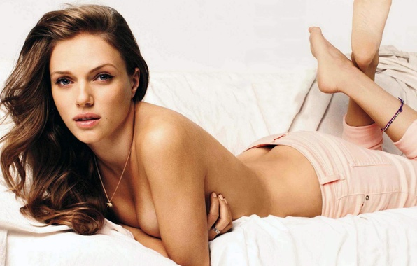 Photo wallpaper sexy, brunette, shirtless, Tracy Spiridakos