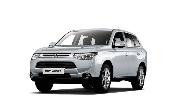 Photo wallpaper 2015, white, Mitsubishi, ZA-spec, Outlander, Outlander, Mitsubishi