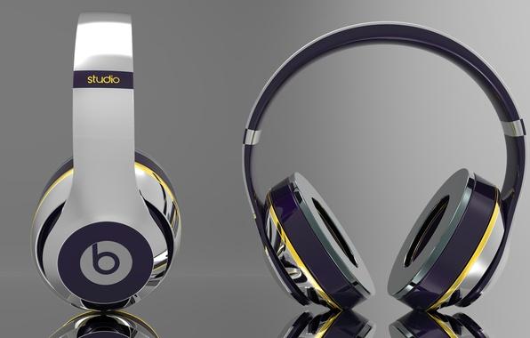 Picture apple, headphones, Headphones, Beats