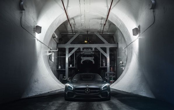 Picture Mercedes-Benz, Front, AMG, Supercar, Wheels, ADV.1, Ligth, GT S