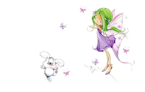 Picture art, girl, children's, Marina Fedotova, fairy