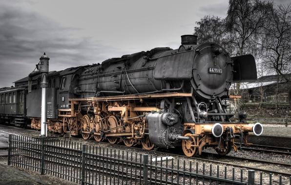 Picture road, Locomotive, iron