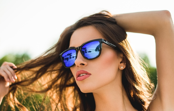 Picture summer, face, heat, hair, lipstick, glasses, beauty, Alyse M
