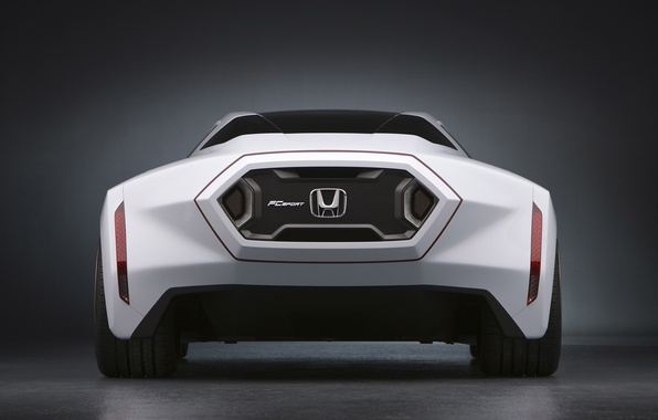 Picture car, auto, white, background, logo, Machine, Honda, is