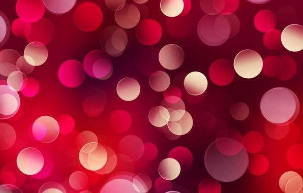 Picture circles, color, lights, red, al, bokeh