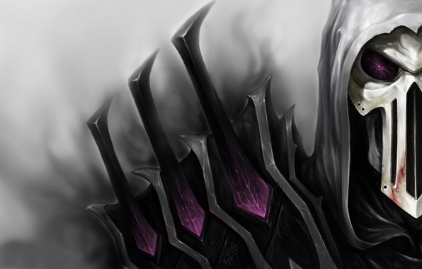 Picture skull, armor, mask, hood, armor