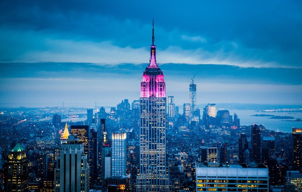 Picture the city, skyscrapers, USA, America, USA, New York City, new York, Empire State Building