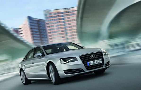 Picture Audi, Audi, Silver, Logo, Before, A8L