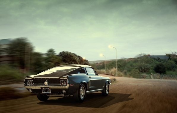 Picture Mustang, Ford, Mustang, Ford, rear, Cobra Jet, Andrei Diomidov