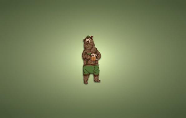 Picture clothing, hat, minimalism, bear, mug, light background, bear