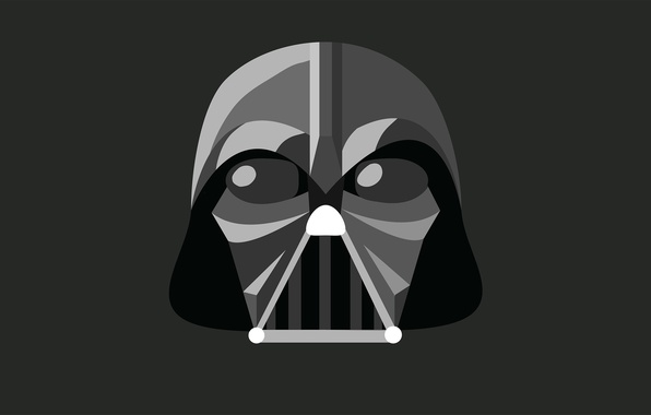 Picture minimalism, Star Wars, Star wars, Darth Vader, Darth Vader, illustration