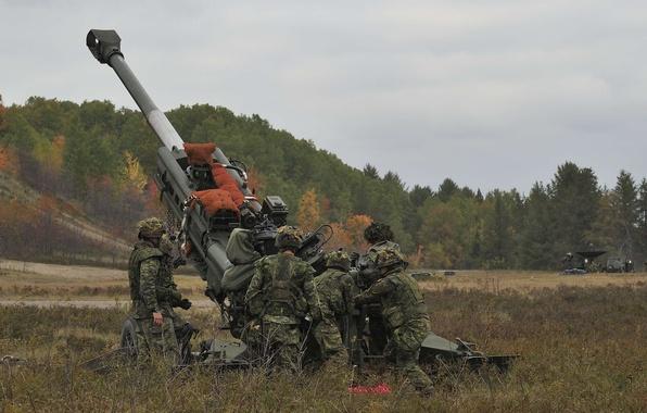 Wallpaper field soldiers artillery howitzer 155 mm - Mm screensaver ...