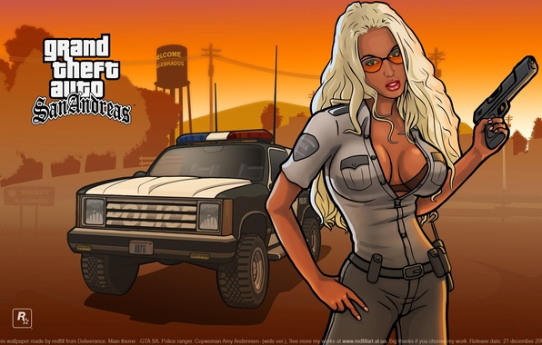 Picture Girl, The game, Girl, Police, Wallpapers, GTA, Game, Wallpaper, Barbara, Grand Thef Auto:San Andreas, GTA, …