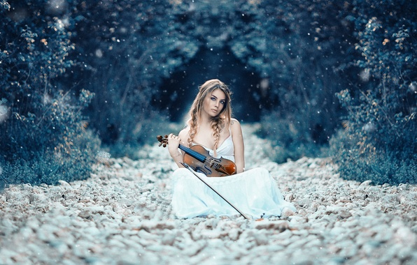 Picture girl, violin, Alessandro Di Cicco, Symphony of life