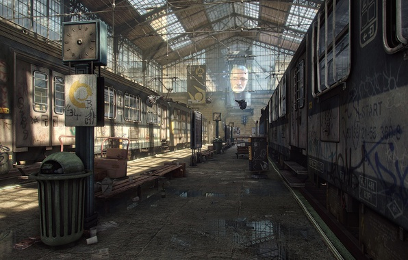 Picture rendering, game, Half-Life 2, City 17, UDK, Unreal Engine, Logithx