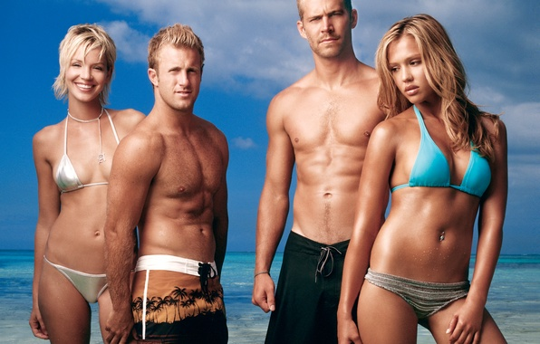 Picture Jessica Alba, Ashley Scott, Paul Walker, Scott Caan, Welcome to Paradise, Into the Blue