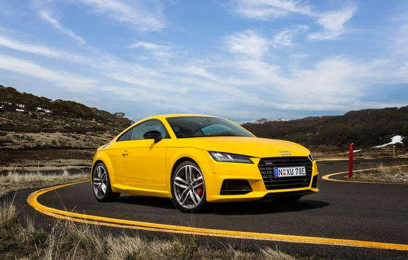 Picture Audi, Audi, coupe, yellow, TTS