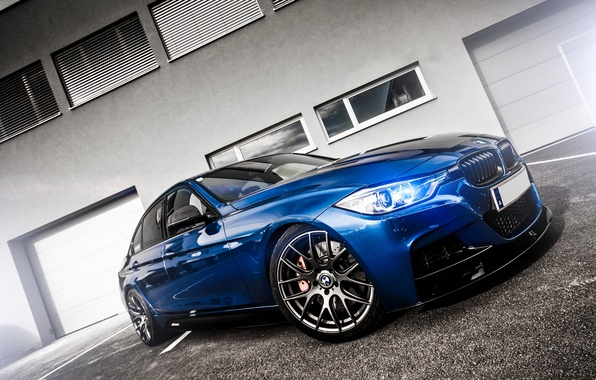 Picture BMW, Tuning, Blue, BMW, Lights, Drives, F30