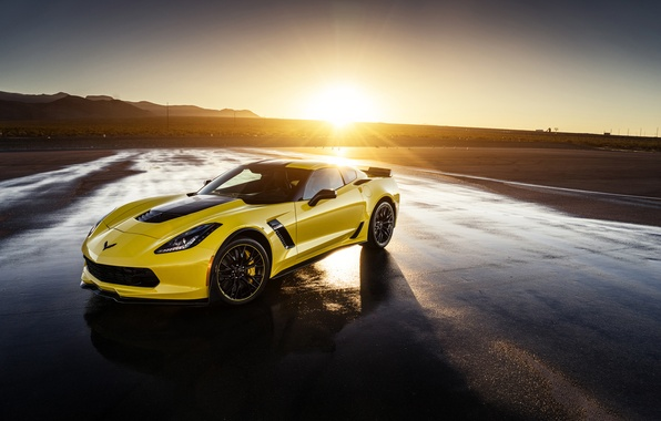 Picture Z06, Corvette, Chevrolet, Front, Yellow, Supercar