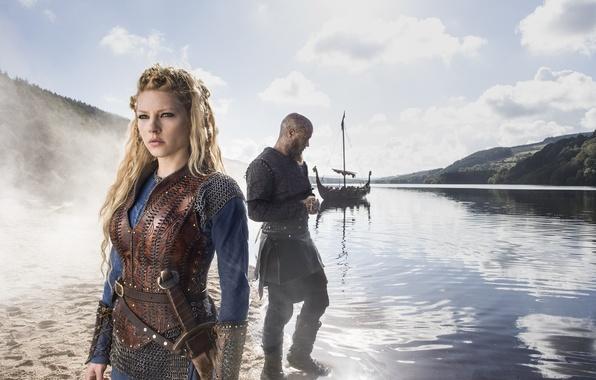 Picture the series, Vikings, The Vikings, Katheryn Winnick, Travis Fimmel, Ragnar Lodbrok