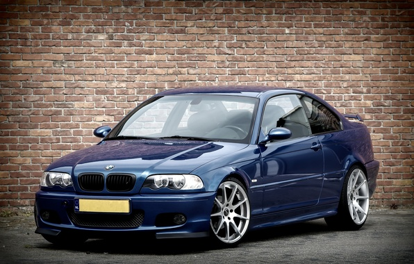 Picture BMW, Blue, BMW, E46