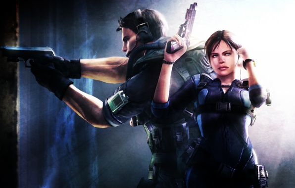 Picture wallpaper, Resident evil, Capcom, Resident Evil: Revelations, Biohazard, Jill Valentine, Jill Valentine, Chris Redfield