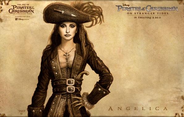 Picture art, Penelope Cruz, pirates of the Caribbean, pirates of the caribbean, disney, on stranger tides, …