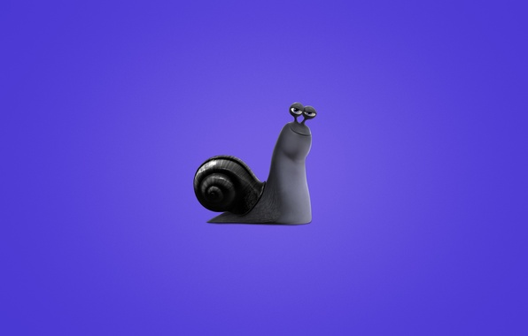 Picture snail, minimalism, Turbo, purple background, Turbo, snail