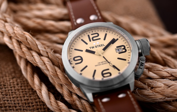 Picture watch, rope, dial