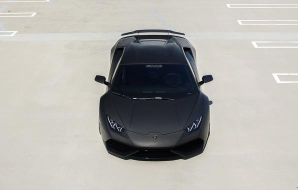 Picture machine, black, Lamborghini, Matt, Lambo, supercar, the front, Huracan, GMG