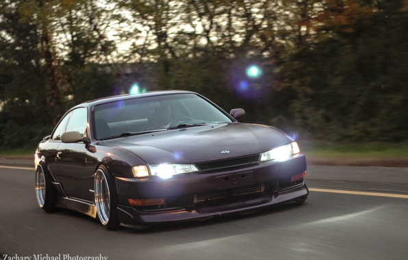 Picture Silvia, Nissan, purple, purple, S14, JDM, Stance, Rigshot, Rolling