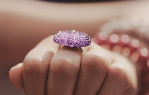 Picture hand, ring, decoration