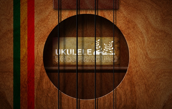 Picture style, music, background, the inscription, Wallpaper, guitar, strings, art, underground, ukulele