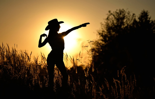 Picture girl, dance, silhouette, country, Mariya
