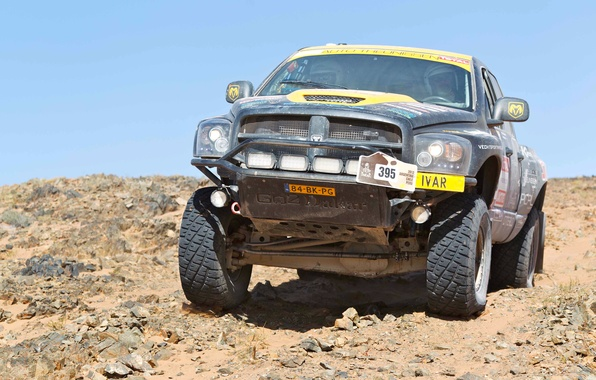Picture Auto, Sport, Desert, Machine, Dodge, Race, Day, Jeep, Lights, Rally, Dakar, SUV, Rally, The front, ...