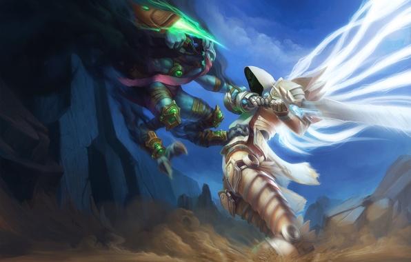 Wallpaper starcraft diablo archangel zeratul tyrael - Heroes of the storm phone wallpaper ...