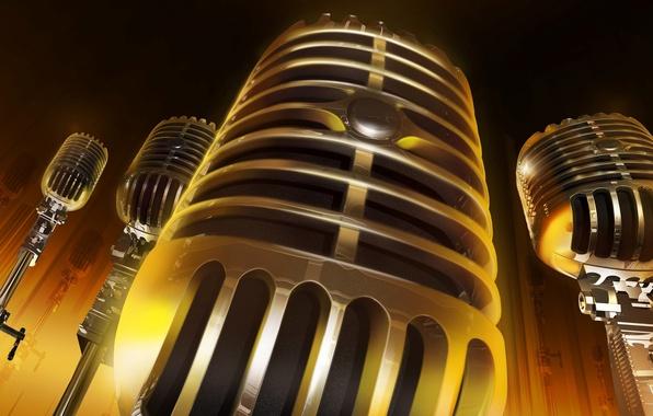 Picture music, sound, microphone, stand, Studio