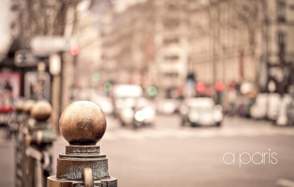Picture road, machine, metal, the city, street, France, Paris, home, fence, blur, Paris, France