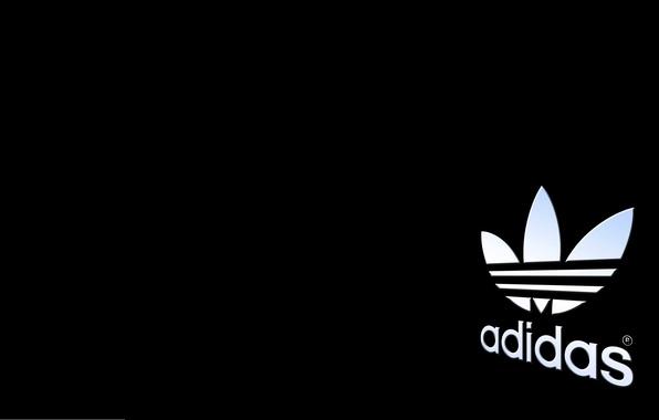 Picture Black, Background, Logo, Adidas, Originals, Brand