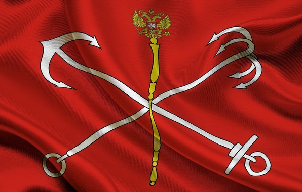 Picture Flag, Russian, the official symbol, St. Petersburg, subject, Federation