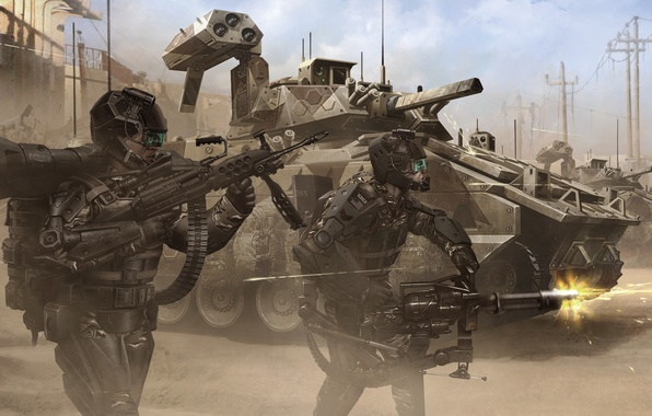 Picture weapons, war, army, tank, costumes