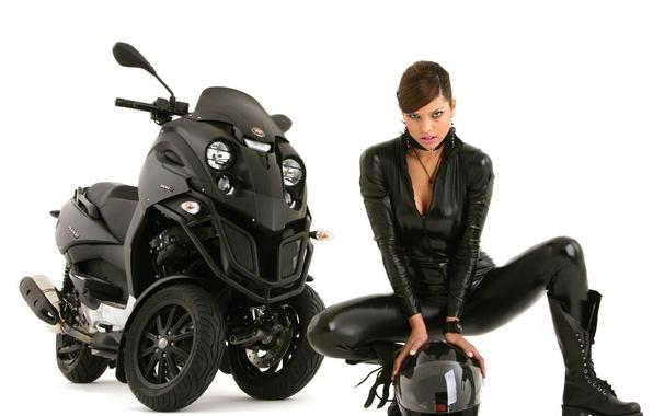Picture Aunt, Helmet, Bike, Leather