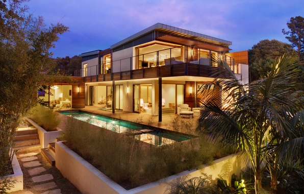Picture house, room, sofa, Villa, pool, TV, chairs, house, pool, bedroom, home, villa, exterior, bed., exterior, …