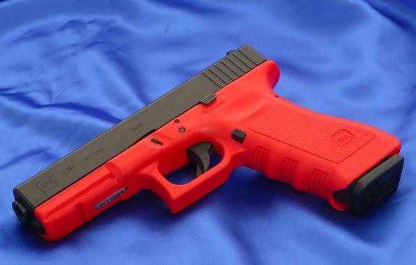 Picture Red, Gun, Austria, Wallpaper, Trunk, Background, Weapons, Red, Gun, Glock, Glock, Wallpapers, Canvas, Austria, Weapons, …