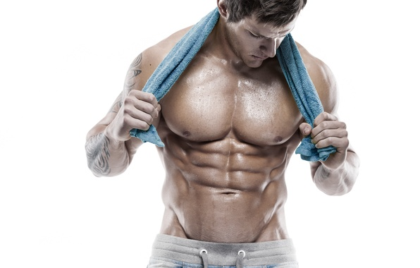 Picture muscles, workout, towel, arms, abs