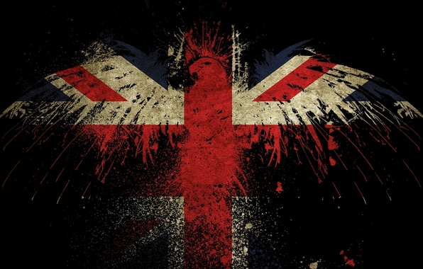 Picture style, creative, paint, paint, texture, art, eagle, flags, texture, the eagles, the flag of England, …